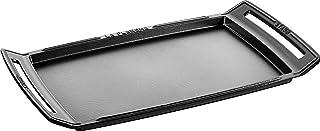 Staub 40509-340-0 Plancha en Fonte, 38 cm, Noir