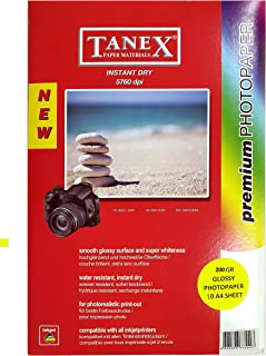 Tanex TANHC200G-10 Glossy Paper 10 Sheets, A4 Size, 200g