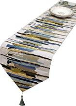 GLBlife Multi-Size Colorful Stripe Table Runner Fall 13 x 108 Inch for Farmhouse Long Side Desk Tall Kitchen Tea/Coffee Ta...
