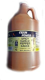 Cajun Power Spicy Garlic Pepper Sauce 1 gallon (128 ounces)