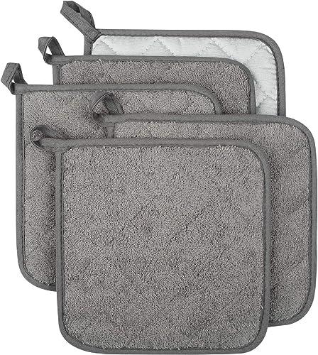 Lifaith-100%-Cotton-Kitchen-Everyday-Basic-Terry-Pot-Holder-Heat-Resistant-Coaster-Potholder