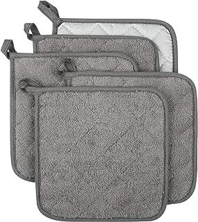 Lifaith 100% Cotton Kitchen Everyday Basic Terry Pot Holder Heat Resistant Coaster..
