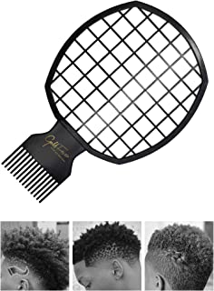 2 in 1 Afro Twist Hair Comb for Men, Barber And Personal Use, DIY Men's Hairdressing Afro Twist it Up Comb Hair Twisting Tool for Natural Hair And Dreads, Curl Hair(Black)