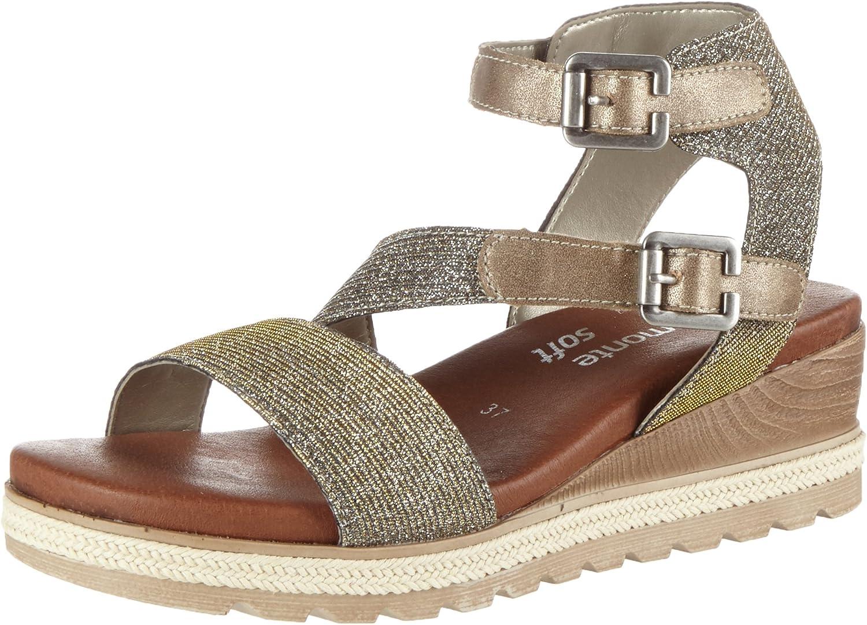 Remonte Women Sandals gold, (gold-silver gold) D6351-90