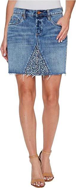 Blank NYC - Denim Studded Skirt in Way Back When