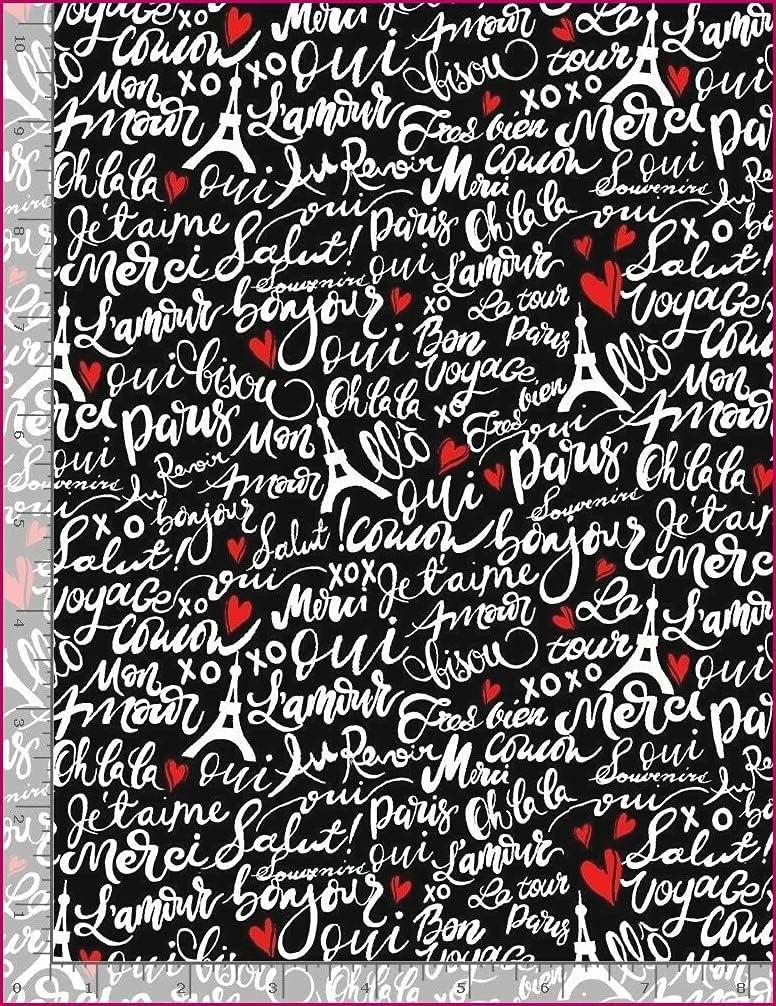 Finally popular brand Alina Natetkova - Bonjour Fabric Paris French Popular shop is the lowest price challenge Script on Word B