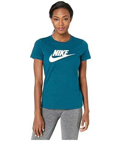 Nike Sportswear Tee Essential Icon Futura (Midnight Turquoise/White) Women