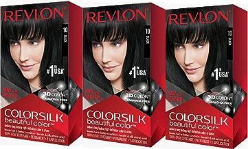 Revlon Colorsilk Beautiful Color, Black, 3 Count