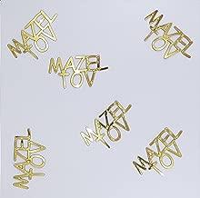 Metallic Confetti Word - MAZEL TOV in 12 Colors (Also Available in Paper) #4275