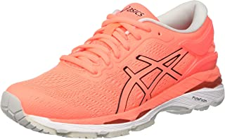 ASICS Women's Gel-Kayano 24 Running Shoes Orange (Flash Coral/Black/White) 3 UK