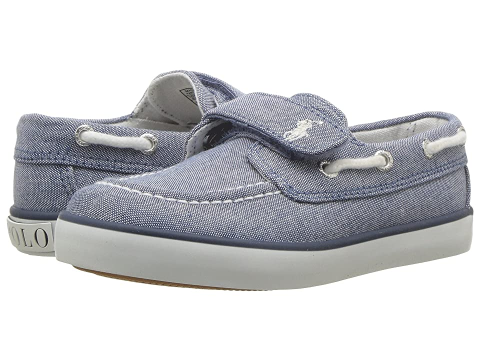 Polo Ralph Lauren Kids Sander EZ (Toddler) (Blue Chambray/White Pony Player) Kid