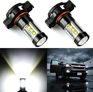 JDM ASTAR Extremely Bright Max 80W High Power 5202 5201 LED Fog Light Bulbs for DRL or Fog Lights, Xenon White