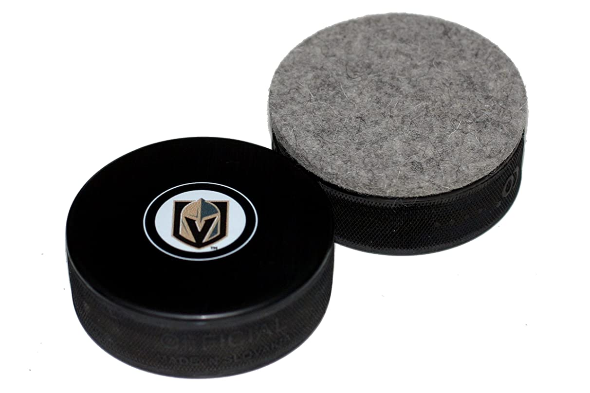 EBINGERS PLACE Vegas Golden Knights Autograph Style Hockey Puck Board Eraser for Chalk Boards and Whiteboards