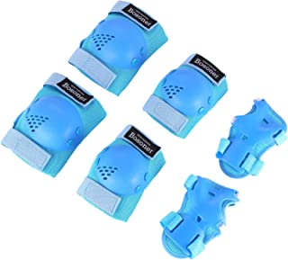 Kids/Youth Knee Pad Elbow Pads Guards Protective Gear Set for Rollerblade Roller Skates Cycling BMX Bike Skateboard Inline Skatings Scooter Riding Sports, Wrist Guards Toddler for Multi-sports Outdoo