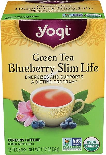 Yogi Green Tea Blueberry Slim Life 16 Tea Bags