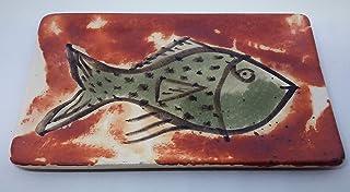 Bandeja de cerámica rectangular para alimentación y decoración 19x12,5