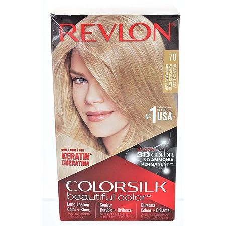 Revlon ColorSilk Tinte de Cabello Permanente Tono #70 Rubio Cenizo Medio