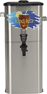 "Wilbur Curtis Iced Tea Dispenser 4.0 Gallon Tea Dispenser, Oval 21""H - Designed to Preserve Flavor - TCO421A000 (Each)"
