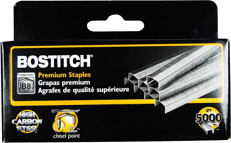 Full-Strip Black /& B8 PowerCrown Premium Staples Bostitch Impulse 30 Electric Stapler 30 Sheet Capacity 0.25 Inch Leg STCR21151//4