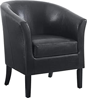 """Linon Home Dcor Linon Home Decor Simon Club Chair, 33"""" x 28.25"""" x 25.5"""", Black"""