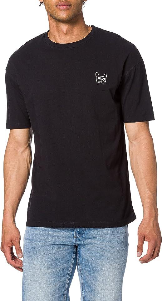 Herren JJAARHUS Tee SS Crew Neck T-Shirt, Black, L