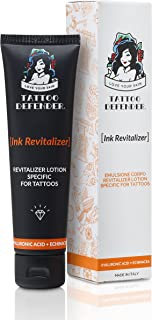 Tattoo Defender Ink Revitalizer - Crema specifica per il mantenimento dei tatuaggi, ravvia i colori e il nero per tattoo b...