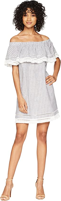 1.STATE Off Shoulder Shift Dress with Tassel