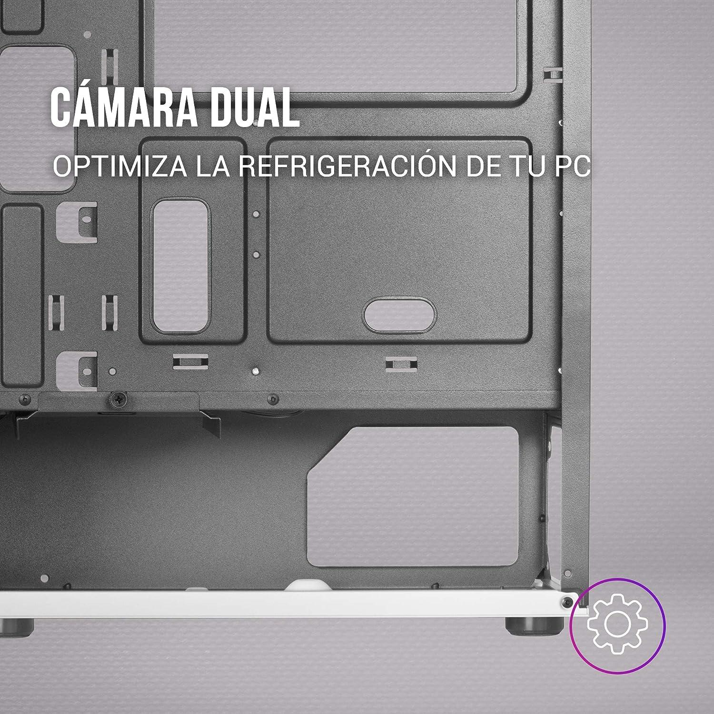 Mars Gaming MC220 Bo/îtier de Jeu ATX 2 Ventilateurs FRGB Fen/être+Grilles Noir