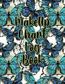Makeup Chart Log Book: Makeup Artist Face Charts Notebook, Makeup Practice Workbook, Professional Blank Face Chart Sheets ...