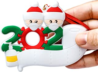 Best 2020 Personalized Ornaments Survivor Family of 2 with Face Masks Hand Sanitized Christmas Ornament Customize by Customer Review