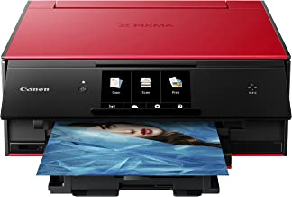 Canon TS9020 Wireless All-In-One Printer with Scanner and Copier: Mobile and Tablet Printing, with AirPrint and Google Cloud Print Compatible, Red (Renewed)