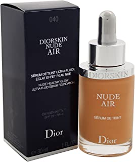 Christian Dior Diorskin Nude Air Serum Ultra-Fluid Serum Foundation SPF 25 - # 040 Honey Beige for Women - 1 oz Foundatio...