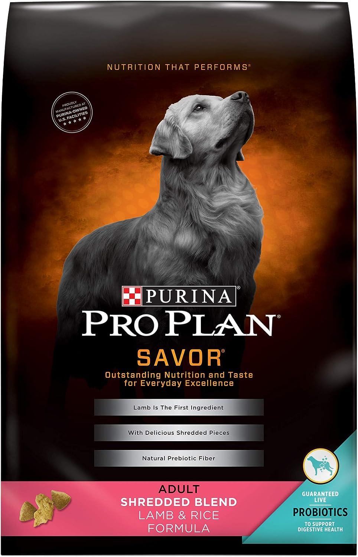Purina Pro Plan Savor Adult Shredded Blend Lamb and Rice Formula, 35Pound