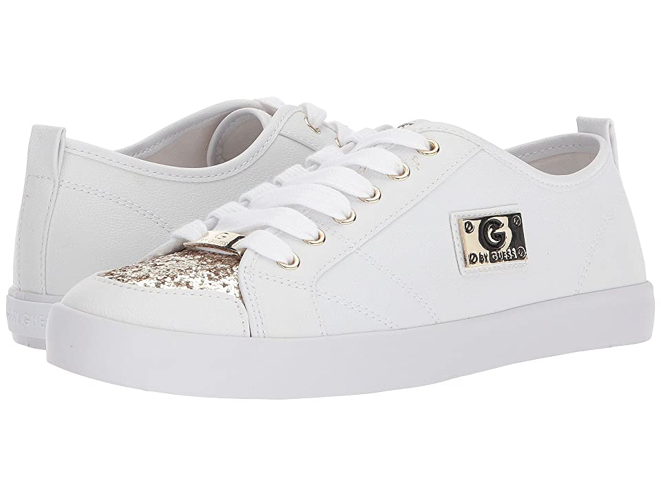 G by GUESS Mallory7 (White/Gold Glitter) Women