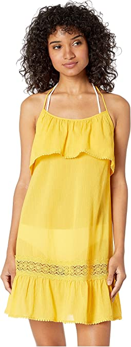 Grove Beach Ruffle Cover-Up Dress