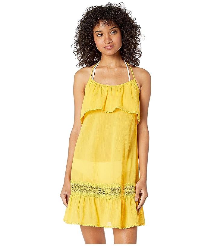 Kate Spade New York Grove Beach Ruffle Cover-Up Dress (Limone) Women