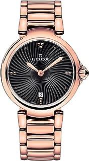 Edox Women's 57002 37RM NIR LaPassion Analog Display Swiss Quartz Rose Gold Watch