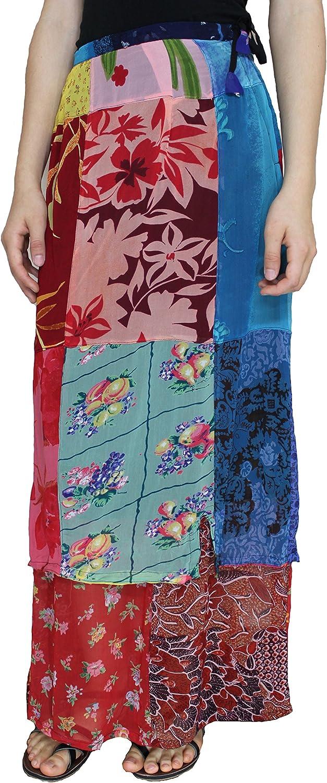 Sacred Threads 2-Length Patchwork Skirt - Medium Size #23134 B