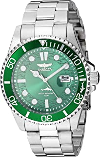 Invicta Men`s Pro Diver Quartz Watch with Stainless Steel Strap, Silver, 22 (Model: 30020)
