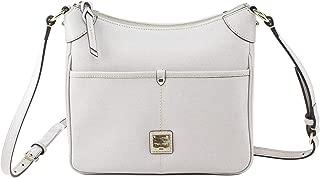 Dooney & Bourke Kimberly Saffiano Leather Crossbody Bag, Ecru/Gold