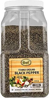 Gel Spice Coarse Ground Black Pepper 18-24 Mesh - Food Service Size - 5 Lbs