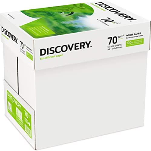 Discovery NDI0700025 Papier 70 g/m² Blanc A4 5 ramettes de 500 feuilles (Import Royaume Uni)