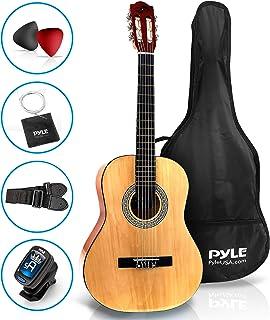 Pyle Beginner Guitarra acústica clásica de 36 pulgadas, 3/