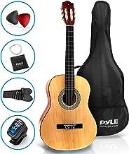 "Pyle 36"" Classical Acoustic Guitar-3/4 Junior Size 6 Linden Wood Guitar w/Gig Bag, Tuner, Nylon Strings, Picks, Strap, for..."
