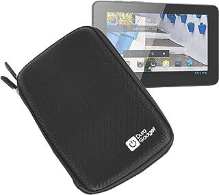 DURAGADGET Funda Negra Rígida con Cremallera para Mundo Reader Tablet BQ Maxwell 2 Plus/Maxwell Plus/Maxwell 2 De 7 Pulgadas