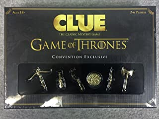 Clue Game of Thrones Convention Exclusive: 2 New Characters 6 Gold Weapons