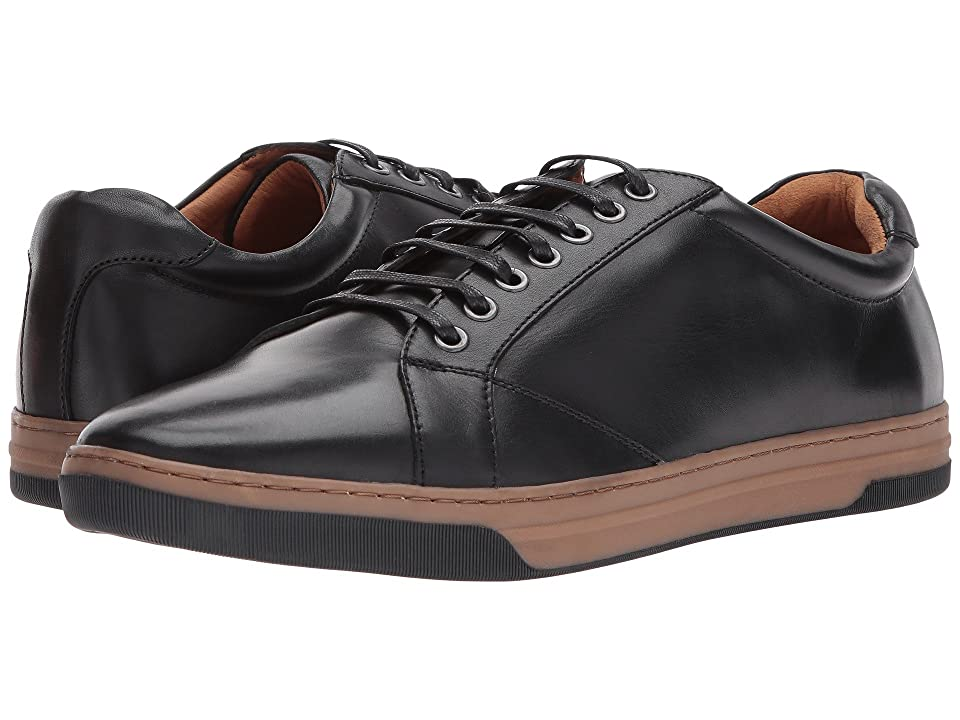 Johnston & Murphy Fenton Casual Dress Lace to Toe Sneaker (Black Calfskin) Men