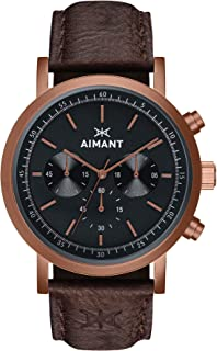 AIMANT Tokyo Cronograph Watches | 42 MM Men's Analog Watch | Leather Strap