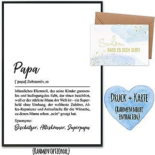 Prezent na Dzień Ojca z drukiem artystycznym i złoto-foliowaną kartką pocztową wraz z kopertą oraz 2 innymi kartami - prez...