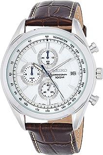 Seiko Brown Chronograph Men Watch - SSB181P1